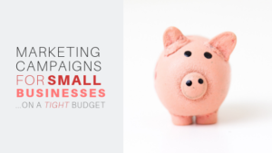 MARKETING CAMPAIGNS FOR SMALL BUSINESS ON A TIGHT BUDGET